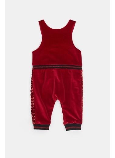 BG Baby Kız Bebek Kırmızı Salopet 20Fw0Bg2103 Kırmızı